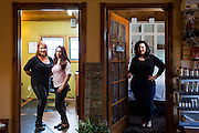 Chava Pelo Salon owner Bobbie Chavarria, left, and associates pose for a portrait at Chava Pelo Salon in Milpitas, California, on July 19, 2015. (Stan Olszewski/SOSKIphoto)