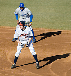 Virginia Cavaliers pitcher/firstbaseman Sean Doolittle (21) leads off of second base in action against Delaware.  The Virginia Cavaliers Baseball Team defeated the Delaware Blue Hens 11-2 in the first of a three game series at Davenport Field in Charlottesville, VA on March 2, 2007.
