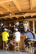Locals in a bar on the Champagne Tourist Route at Mancy, the Marne, Champagne-Ardenne, France