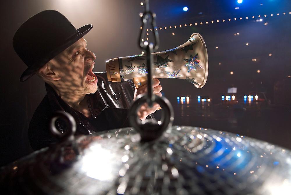 Jorma Uotinen, Finnish dancer-choreographer and performance artist photographed at Alexander Theater in Helsinki, Finland.