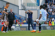 Blackburn Rovers Manager Tony Mowbray holds his head during the EFL Sky Bet Championship match between Blackburn Rovers and Brentford at Ewood Park, Blackburn, England on 25 August 2018.