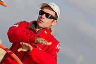 SPAIN, Alicante. 20th October 2011. On board Team Sanya practice session. Skipper Mike Sanderson.