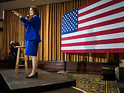 12 JANUARY 2020 - PERRY, IOWA: US Senator AMY KLOBUCHAR (D-MN) speaks during a campaign event in the Hotel Pattee in Perry, IA, Sunday. Sen. Klobuchar brought her presidential campaign to Perry, a farming community about 50 miles west of Des Moines. Iowa hosts the first event of the presidential selection process in February. The Iowa Caucuses are Feb. 3, 2020.     PHOTO BY JACK KURTZ