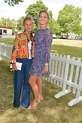 Left to right, LADY AMELIA WINDSOR and ELLIE SYKES at the Flannels For Heroes cricket competition in association with Dockers held at Burton Court, Chelsea, London on 19th June 2015