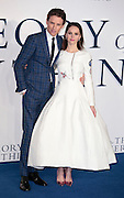 """Dec 9, 2014 - """"The Theory Of Everything"""" - UK Premiere - Red Carpet Arrivals at Odeon,  Leicester Square, London<br /> <br /> Pictured: Felicity Jones; Eddie Redmayne<br /> ©Exclusivepix Media"""