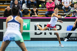 February 6, 2019 - Zielona Gora, Poland - Alicja Rosolska (POL) during Tennis 2019 Fed Cup by Paribas Europe/Africa Zone Group 1  match between Poland and Russia  in Zielona Gora, Poland, on 7 February 2019. (Credit Image: © Foto Olimpik/NurPhoto via ZUMA Press)