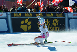 14.12.2013, Engiadina, St. Moritz, SUi, FIS Weltcup Ski Alpin, St. Moritz, SuperG, Damen, im Bild Tina Weirather of Lichtensein reacts, the finish area // Tina Weirather of Lichtensein reacts, the finish area during the ladies Super-G of the St. Moritz FIS Ski Alpin World Cup at the Engiadina in St. Moritz, Switzerland on 2013/12/14. EXPA Pictures © 2013, PhotoCredit: EXPA/ Mitchell Gunn<br /> <br /> *****ATTENTION - OUT of GBR*****