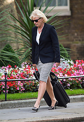 © Licensed to London News Pictures. 07/09/2015. Westminster, UK. Minister for small business, Industry and Enterprise, ANNA SOUBRY MP arriving at 10 Downing Street wearing sunglasses on September 7, 2015..  Photo credit: Ben Cawthra/LNP