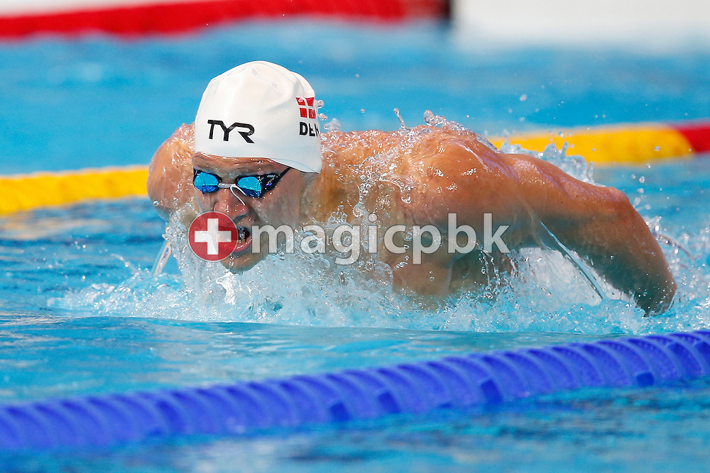 Viktor B. BROMER of Denmark competes in the men's 200m Butterfly Heats during the 16th FINA World Swimming Championships held at the Kazan arena in Kazan, Russia, Tuesday, Aug. 4, 2015. (Photo by Patrick B. Kraemer / MAGICPBK)