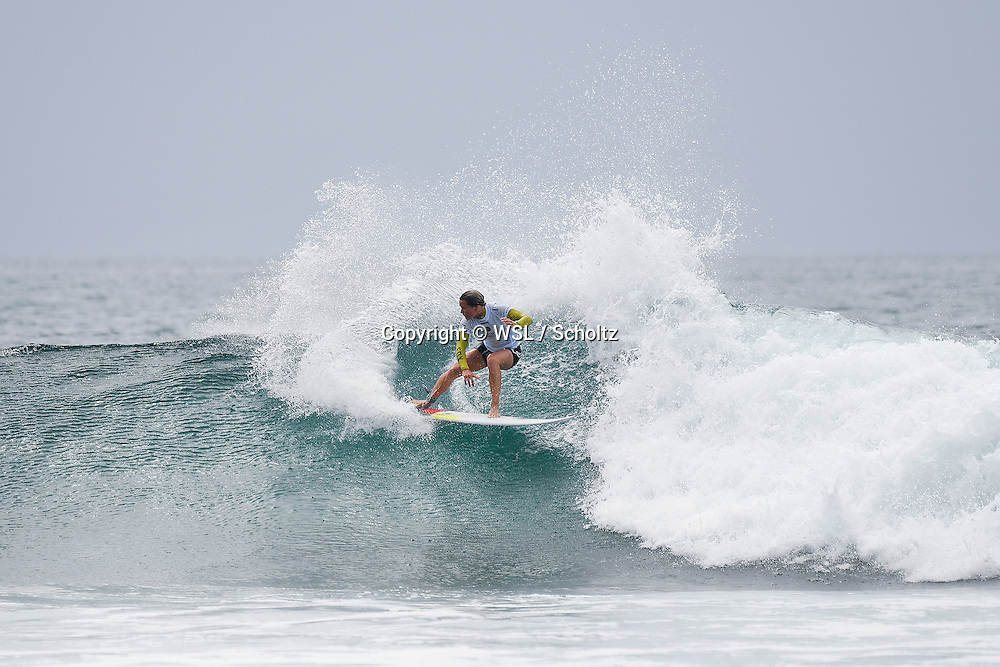 Keely Andrew placed third in Heat 6 of Round One at the Swatch Women's Pro.