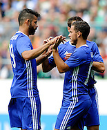 Eden Hazard of Chelsea celebrates his goal during the pre season friendly match at Weserstadion, Bremen, Germany.<br /> Picture by EXPA Pictures/Focus Images Ltd 07814482222<br /> 07/08/2016<br /> *** UK & IRELAND ONLY ***<br /> EXPA-EIB-160807-0225.jpg
