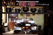 Domingos Martins_ES, Brasil...Detalhe das panelas do restaurante Caminho do Imigrante...Saucepans detail of the Caminho do Imigrante restaurant...Foto: LEO DRUMOND / NITRO