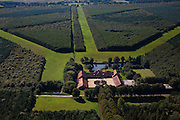 Nederland, Drenthe, Gemeente Aa en Hunze, 08-09-2009; Modelboerderij De Schipborg, naar een ontwerp van H.P. Berlage (1914-1915, gebouwd in opdracht van A.G. Kroller-Muller. Het nieuwe landgoed rond de boerderij (met bossen) stamt uit 1997..The Model Farm Schipborg, designed by HP Berlage (1914-1915, commissioned by  by AG Kroller-Muller. The new estate around the farm (forest), is from 1997..luchtfoto (toeslag); aerial photo (additional fee required); .foto Siebe Swart / photo Siebe Swart
