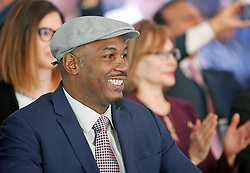 October 1, 2018 - Kiev, Ukraine - Former Boxing Champion LENNOX LEWIS attends the opening of the 56th World Boxing Convention in Kiev, Ukraine, on 1 October 2018. The WBC 56th congress in which take part boxing legends Evander Holyfield,Lennox Lewis, Eric Morales and about 700 participants from 160 countries runs in Kiev from from September 30 to October 5. (Credit Image: © Serg Glovny/ZUMA Wire)