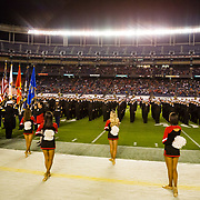 20 October 2018:  Members of the Army, Marines and Navy participate in the pre-game ceremonies prior to San Diego State taking on San Jose State. The Aztecs beat the Spartans 16-13 Saturday night at SDCCU Stadium.