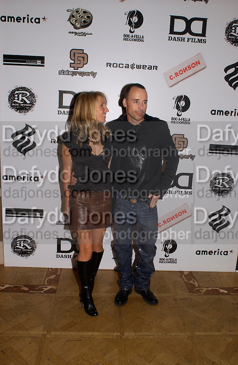 Sam Taylor Wood and David Furnish, Rocawear UK launch, 5 Cavendish Sq. © Copyright Photograph by Dafydd Jones 66 Stockwell Park Rd. London SW9 0DA Tel 020 7733 0108 www.dafjones.com