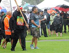 Paihia-Rain dampens Waitangi celebrations