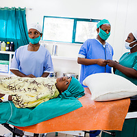 A young girl suffering from fistula waits for her surgery to begin in Bahir Dar, Ethiopia at the Hamlin Fistula Hospital.