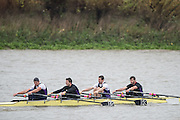 Hammersmith, Greater London, UK. Team Keane !,Elite 4X. 2015 Fours Head of the River Race, River Thames [ opposite Chiswick Eyot]  Saturday  07/11/2015 <br /> <br /> [Mandatory Credit: Peter SPURRIER: Intersport Images]