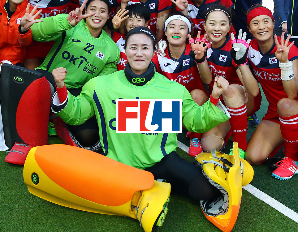 New Zealand, Auckland - 22/11/17  <br /> Sentinel Homes Women&rsquo;s Hockey World League Final<br /> Harbour Hockey Stadium<br /> Copyrigth: Worldsportpics, Rodrigo Jaramillo<br /> Match ID: 10303 - GER vs KOR<br /> Photo: (1) JANG Soo Ji&nbsp;(GK)