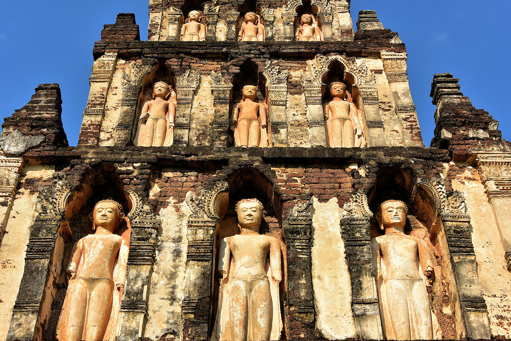Chedi Kukut Close Up at Wat Chamthewi in Lamphun, Thailand<br />