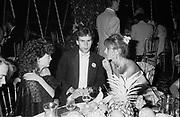 Pandora Mond, Valentine Guinness and Clarissa Baring. John Aspinall's party for Amanda, Porte Lympne. 1981. © Copyright Photograph by Dafydd Jones 66 Stockwell Park Rd. London SW9 0DA Tel 020 7733 0108 www.dafjones.com