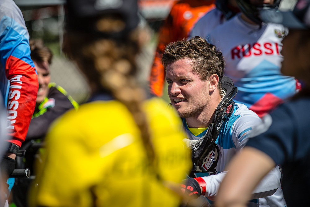 #194 (VILLEGAS Federico) ARG at Round 4 of the 2018 UCI BMX Superscross World Cup in Papendal, The Netherlands
