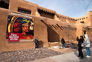 New Mexico Museum of Art, .Santa Fe, New Mexico, tourists