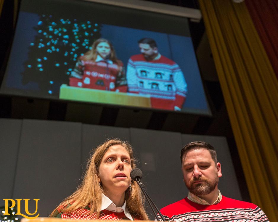 PLU , Thursday, Dec. 14, 2017. (Photo: John Froschauer/PLU)