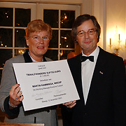 Dirigent Martin Kamminga ontvangt de Weesper Denso Cultuurprijs