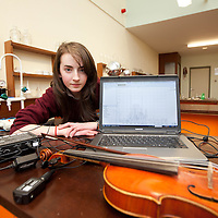 Eil's O'Halloran, with her Young Scientist project  at Scariff Community School.   Pic: Sean Curtin Press 22.<br /> Eilís O'Halloran, with her Young Scientist project  at Scariff Community School.   Pic: Sean Curtin Press 22.