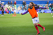 Joe Allen (Stoke) warming up ahead of the EFL Sky Bet Championship match between Queens Park Rangers and Stoke City at the Loftus Road Stadium, London, England on 9 March 2019.