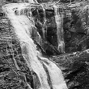 Bald River Falls - Autumn - Black & White