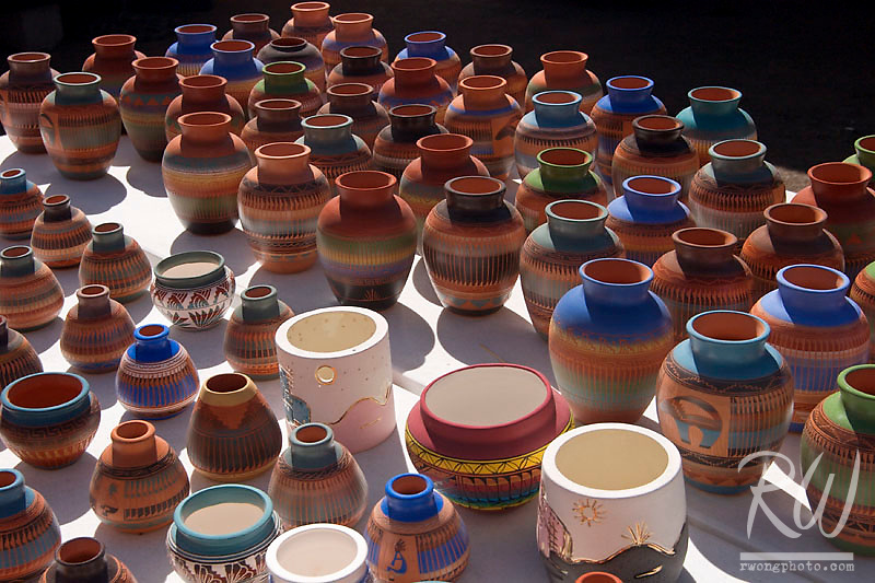 Native American Indian Pottery, Santa Fe, New Mexico