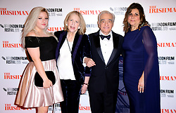 Francesca Scorsese, Helen Morris, Martin Scorsese and Cathy Scorsese attending the Closing Gala and International premiere of The Irishman, held as part of the BFI London Film Festival 2019, London.