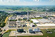 Nederland, Zuid-Holland, Rotterdam, 10-06-2015; bedrijventerrein Waalhaven-Zuid (Waalhaven Zuidzijde) met KPN-zendmast Waalhaven. Het landelijk gebied ten oosten van Rhoon en Portugaal in de achtergrond.<br /> Waalhaven Zuid business park.<br /> <br /> luchtfoto (toeslag op standard tarieven);<br /> aerial photo (additional fee required);<br /> copyright foto/photo Siebe Swart