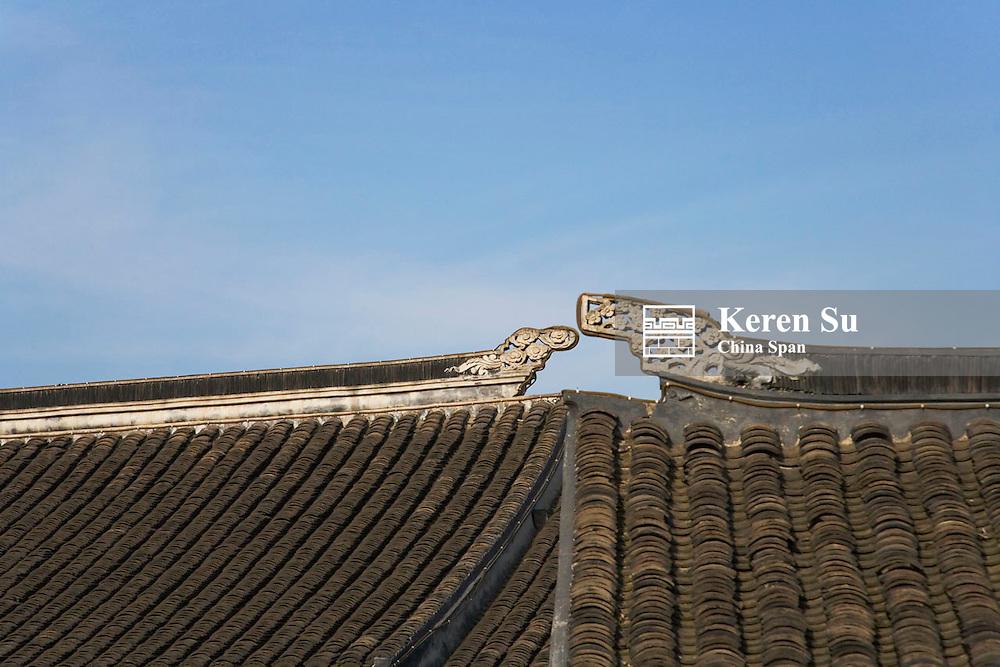 Traditional architecture in the water town, Zhujiajiao, near Shanghai, China