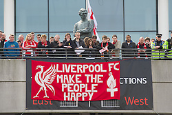 LONDON, ENGLAND - Saturday, April 14, 2012: Liverpool supporters before the 218th Merseyside Derby, the FA Cup Semi-Final, at Wembley. (Pic by David Rawcliffe/Propaganda)