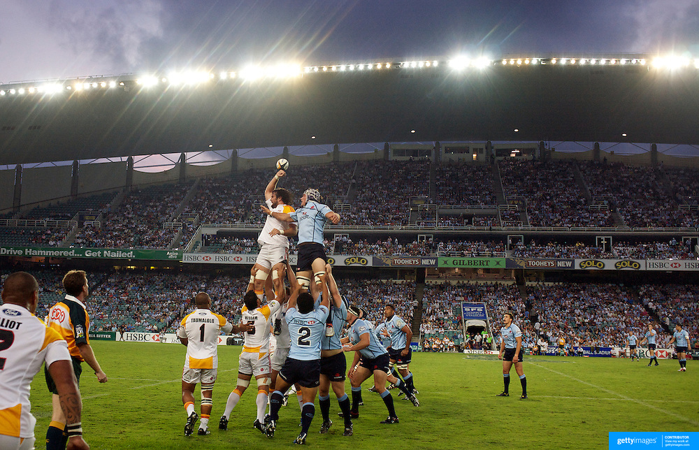 Line out action during the Super14 match between the Waratahs and the Chiefs at the Sydney Football Stadium in Sydney, Australia on February 20, 2009. The Waratahs won the match 11-7. Photo Tim Clayton