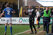 Carlisle manager Keith Curle during the Sky Bet League 2 match between Cambridge United and Carlisle United at the R Costings Abbey Stadium, Cambridge, England on 16 April 2016. Photo by Nigel Cole.