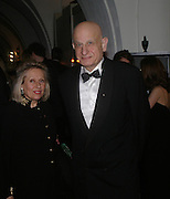 Mr. and Mrs. Naim Attallah. Dinner to unveil the Van Cleef & Arpels jewellery collection 'Couture' with fashion by Anouska Hempel Couture. The Banqueting House, Whitehall Palace, London on 8th March 2005.ONE TIME USE ONLY - DO NOT ARCHIVE  © Copyright Photograph by Dafydd Jones 66 Stockwell Park Rd. London SW9 0DA Tel 020 7733 0108 www.dafjones.com