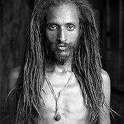 Portrait of Baba Laxman Giri, Varanasi, India.<br /> <br /> He is 40 years old and comes from Rishikesh City.