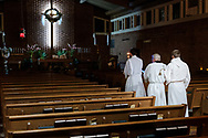 A procession during the Easter Vigil worship at Church of the Reformation – Lutheran (Reformation Lutheran Church), Affton, Mo., on Saturday, March 31, 2018. LCMS Communications/Erik M. Lunsford