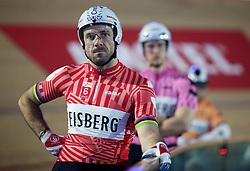 France's Francois Pervis during day six of the Six Day Series at Lee Valley Velopark, London