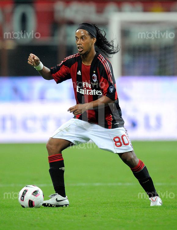 FUSSBALL INTERNATIONAL   SERIE A   SAISON 2010/2011    AC Mailand - Juventus Turin      22.08.2010 Ronaldinho (Milan)