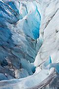 Old ice at the toe of Exit Glacier in Seward Alaska.