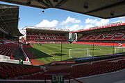 General view inside the stadium before the EFL Sky Bet Championship match between Nottingham Forest and Birmingham City at the City Ground, Nottingham, England on 17 August 2019.