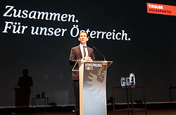27.01.2018, Olympiaworld, Innsbruck, AUT, Tiroler Landtagswahl, 23. Landesparteitag ÖVP Tirol, Wahlkampf - Auftaktveranstalltung der Tiroler Volkspartei zur bevorstehenden Lantagwahl, im Bild Bundeskanzler Sebastian Kurz // during the 23rd State Party of Austrian People's Party to the upcoming Tyrolean state election at the Olympiaworld in Innsbruck, Austria on 2018/01/27. EXPA Pictures © 2018, PhotoCredit: EXPA/ Johann Groder