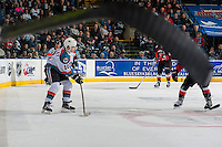 KELOWNA, CANADA - MARCH 1: Nick Merkley #10 of the Kelowna Rockets passes the puck against the Prince George Cougars on MARCH 1, 2017 at Prospera Place in Kelowna, British Columbia, Canada.  (Photo by Marissa Baecker/Shoot the Breeze)  *** Local Caption ***