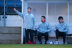 SKELMERSDALE, ENGLAND - Sunday, December 14, 2008: Liverpool's manager Robbie Johnson during the Women's FA Premier League match against Birmingham City at the Ashley Travel Stadium. (Photo by David Rawcliffe/Propaganda)
